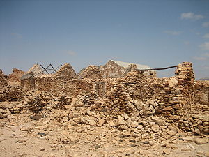 The ruined village of Curral Velho on the island of Boavista, Cape Verde