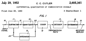 Differential pulse-code modulation - Image: Cutler DPCM patent