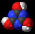 Cyanuric acid (triol) 3D spacefill.png