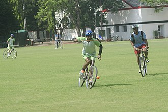 Cycle polo - A Traditional Cycle Polo game in CC&FC, Kolkata
