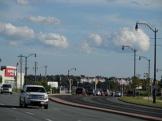 Bike lane - Image: Cycle lane Moncton, New Brunswick, Canada (2013)
