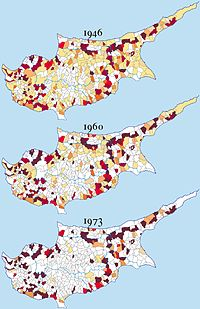 Distribution of Turkish Cypriots (1946, 1960, 1973)