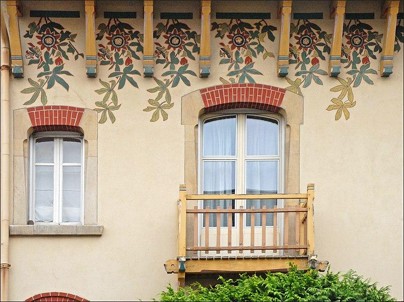 Maison de l'entrepreneur de peinture Auguste Ramel, 1904 de style art nouveau dans le rue Félix Faure.  L'architecte est Emile André (1871-1933)