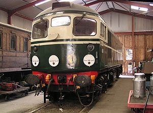 Lakeside and Haverthwaite Railway - Image: D5301 inside Haverthwaite shed
