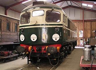 Lakeside and Haverthwaite Railway - Image: D5301 inside Haverthwaite shed