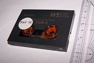 Digital Data Storage - A DDS-2 cartridge.