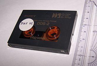 Digital Data Storage - A DDS-2 cartridge.