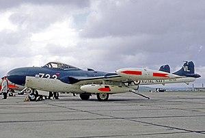 De Havilland Sea Venom - Operational Royal Navy Sea Venom FAW.22 at RAF Chivenor in 1969