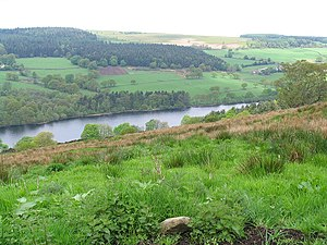 Sheffield - Dale Dike Reservoir, the original dam wall of this reservoir collapsed in 1864 causing the Great Sheffield Flood
