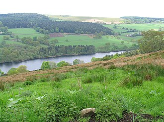 Sheffield - Dale Dike Reservoir: the original dam wall of this reservoir collapsed in 1864 causing the Great Sheffield Flood