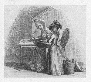 Christian Felix Weiße - 1784 title vignette to Briefwechsel der Familie des Kinderfreundes, by Daniel Chodowiecki