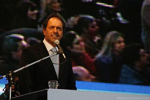 Daniel Scioli en el cierre de Campaña