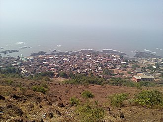 Dapoli - View of Dapoli from adjacent hill