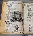 Das Mörike-Kabinett im Deutschordensmuseum. Das reich durch Zeichnungen verzierte Haushaltsbuch des Dichters.jpg