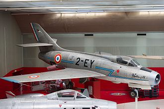 Dassault Mystère IV - Dassault Mystère IVA preserved at the Musée de l'Air.