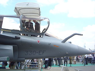 Dassault Rafale - Forward section of Rafale on display at the Paris Air Show, 2005