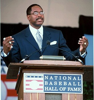 Dave Winfield - Winfield at his Hall of Fame induction in 2001