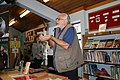 Dave Cisp cups some radiates at Frome Library.jpg