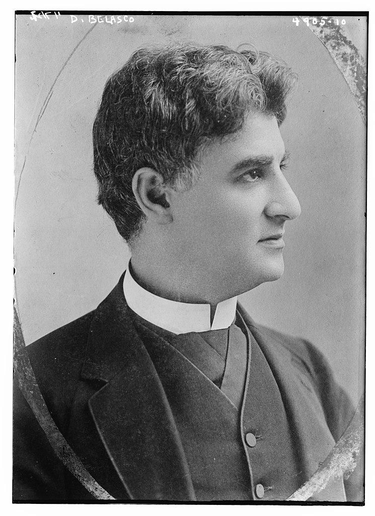 David Belasco circa 1915 oval portrait