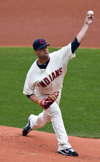 UC Irvine Anteaters baseball - David Huff, shown while pitching for the MLB's Cleveland Indians.