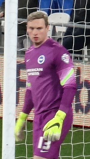 David Stockdale - Stockdale playing for Brighton & Hove Albion in 2015