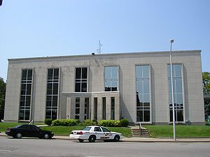 Owensboro, Kentucky - Daviess County Courthouse constructed in 1964