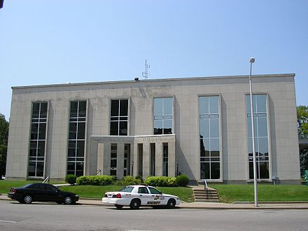 Daviess County Courthouse constructed in 1964 Daviess County, Kentucky courthouse.jpg
