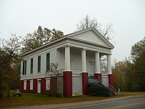 Dayton, Alabama - The Dayton United Methodist Church, completed in November 1850.