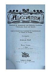 Alemannia (Band 28)