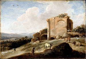 De Hooch, Carel Cornelisz - Landscape with a Roman Ruin - Google Art Project.jpg
