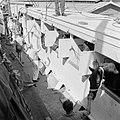 De paarden voor de koninklijke calèche bij aankomst in de haven van Willemstad, Bestanddeelnr 252-2730.jpg