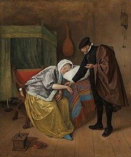 De zieke vrouw Rijksmuseum SK-C-230