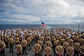 Defense.gov News Photo 111207-M-IS773-005 - Marines with the 11th Marine Expeditionary Unit and sailors aboard the USS Pearl Harbor LSD 52 stand in formation during a 70th anniversary.jpg