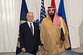 Defense Secretary James Mattis & Deputy Crown Price of Saudi Arabia Mohammad bin Salman Al Saud in the Pentagon in Washington, D.C., March 16, 2017 (33323863632).jpg