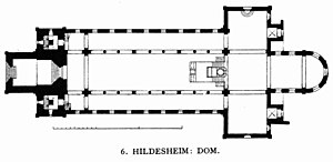 Hildesheim Cathedral - Groundplan