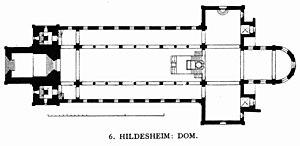 Hildesheim Cathedral - Groundplan