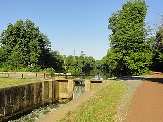 South Bound Brook, New Jersey - Delaware and Raritan Canal locks