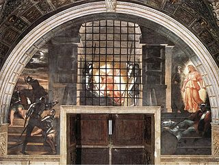 <i>Deliverance of Saint Peter</i> painting by Raphael