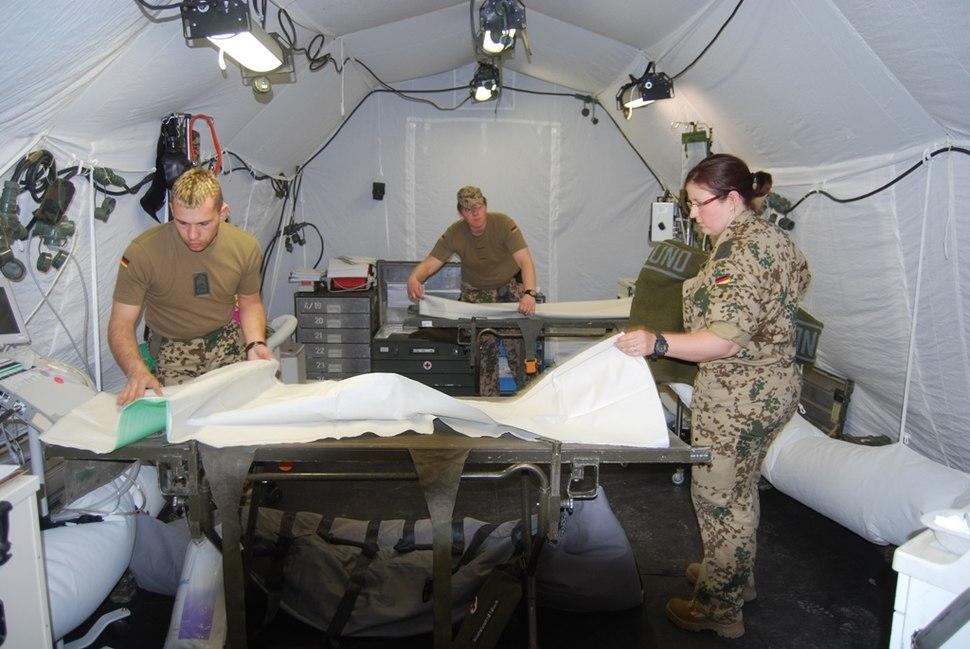 Demonstrating a medical evacuation Field hospital.jpg