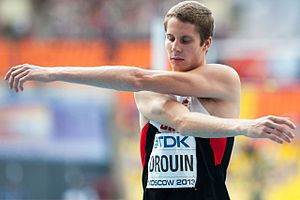High jump at the World Championships in Athletics - Image: Derek Drouin Moscow 2013