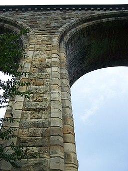 Detail of Newbridge Railway Viaduct - geograph.org.uk - 1005822