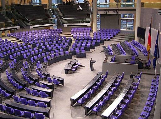 Deutscher Bundestag Plenarsaal Seitenansicht