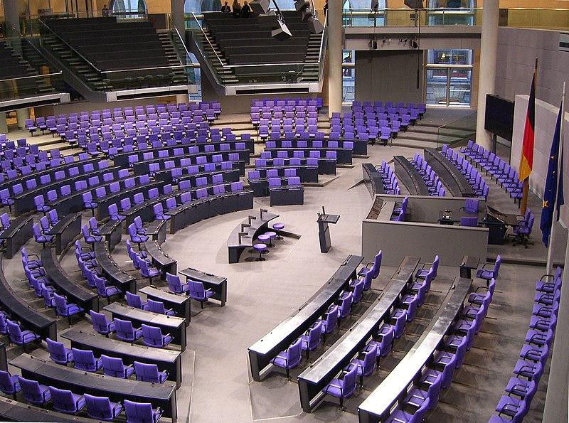 Datei:Deutscher Bundestag Plenarsaal Seitenansicht.jpg