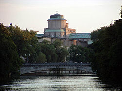 Deutsches Museum, view of the museum island
