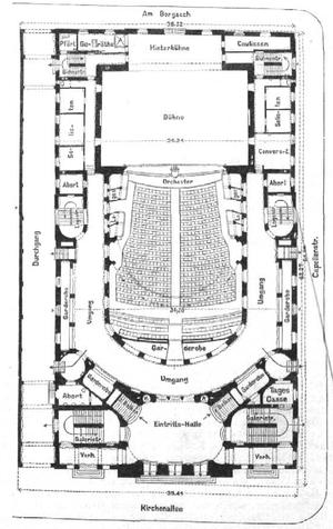 Deutsches Schauspielhaus - ground floor plan