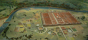 History of Cheshire - Model of how Deva Victrix would probably have looked.