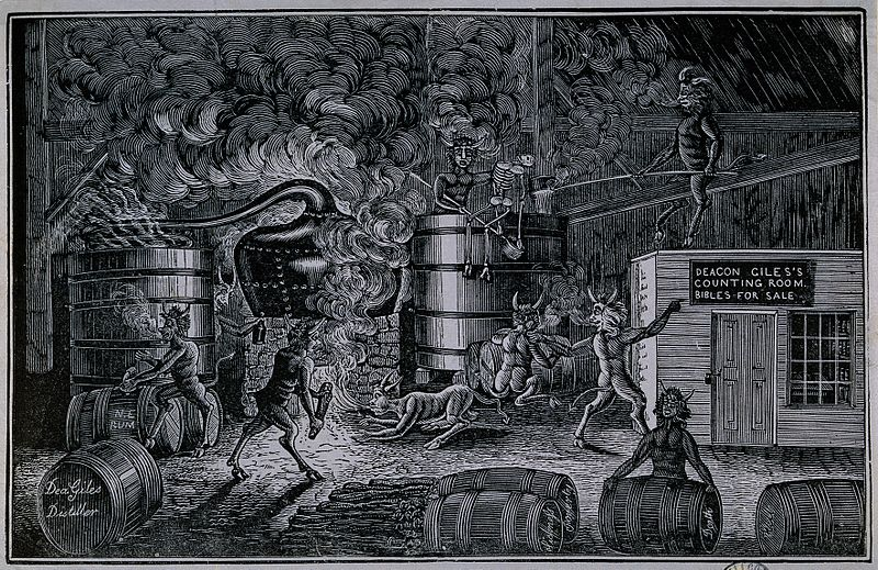File:Devils playing with death in the distillery of Deacon Giles. Wellcome V0019344.jpg