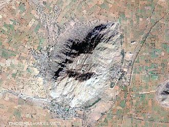 Dhosi Hill - Aerial view of Dhosi Hill showing ancient 'Parikrama'