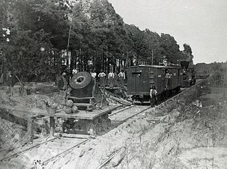 "Siege of Petersburg - ""Dictator"" siege mortar on the U.S. Military Railroad at Petersburg"
