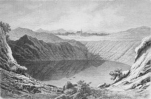 Weinfelder Maar - The Weinfelder Maar in 1878 (Die Gartenlaube)